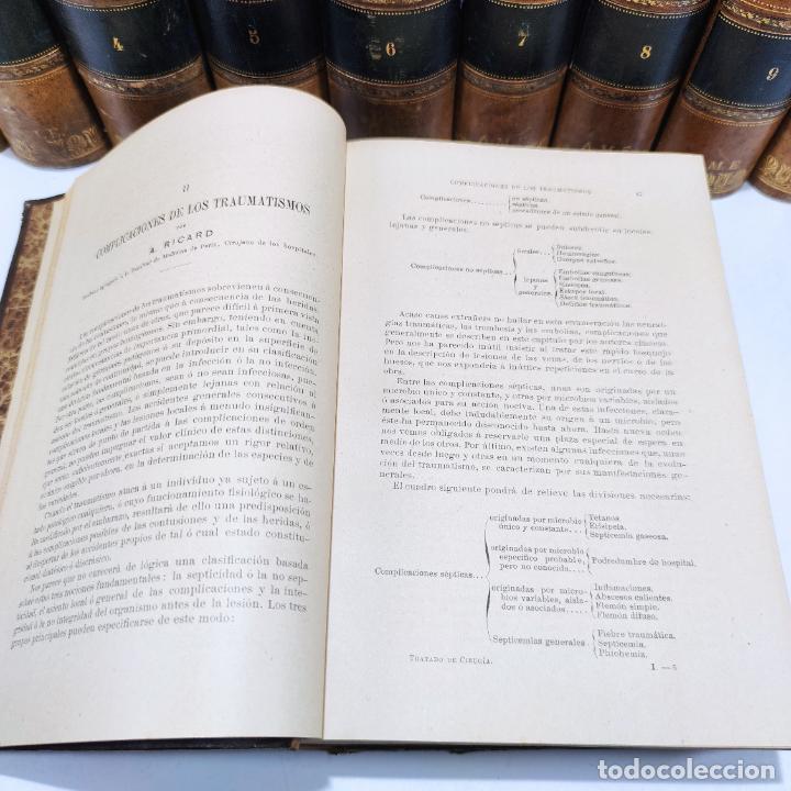 Libros antiguos: Tratado de cirugía clínica y operatoria. A. Le Dentu. Pierre Delbet. 11 tomos. Madrid. 1899. - Foto 8 - 290961708