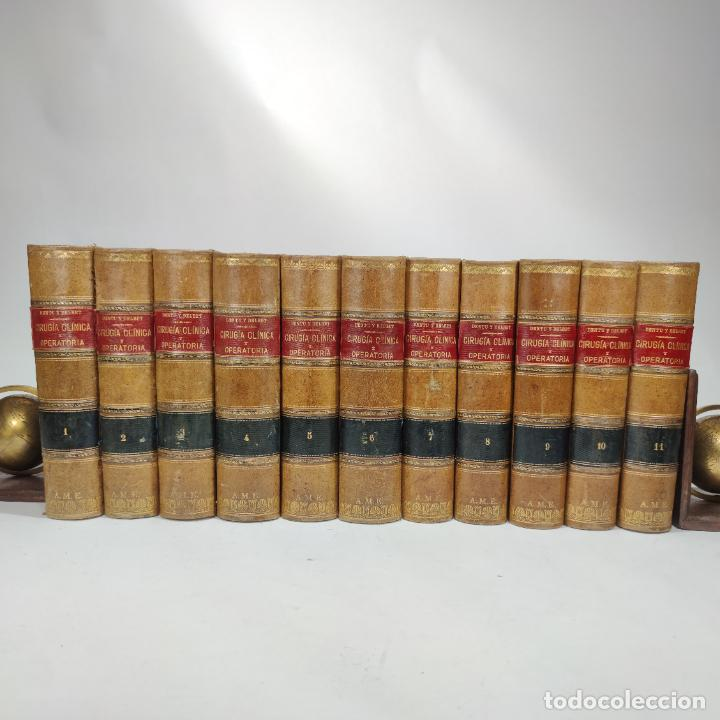 TRATADO DE CIRUGÍA CLÍNICA Y OPERATORIA. A. LE DENTU. PIERRE DELBET. 11 TOMOS. MADRID. 1899. (Libros Antiguos, Raros y Curiosos - Ciencias, Manuales y Oficios - Medicina, Farmacia y Salud)