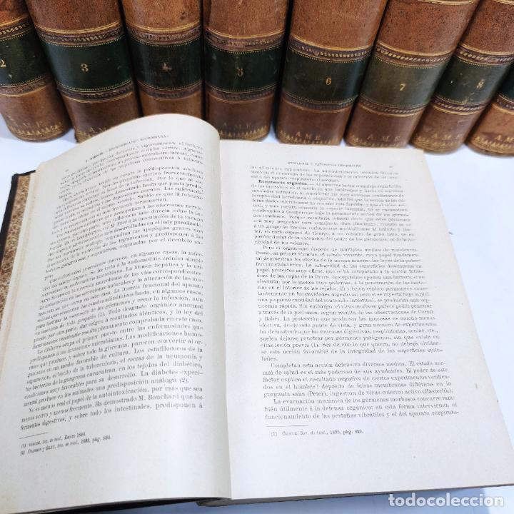 Libros antiguos: Tratado de medicina y terapéutica. P. Brouardel. D. José Núñez Granés. 10 tomos. Madrid. 1901. - Foto 8 - 290962338