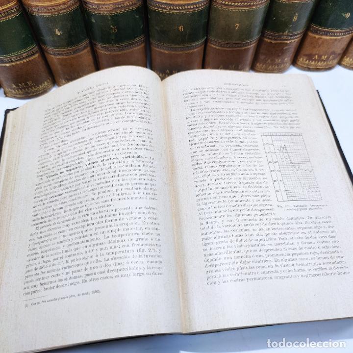 Libros antiguos: Tratado de medicina y terapéutica. P. Brouardel. D. José Núñez Granés. 10 tomos. Madrid. 1901. - Foto 9 - 290962338