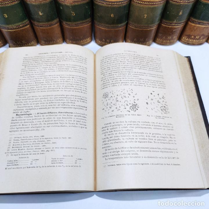 Libros antiguos: Tratado de medicina y terapéutica. P. Brouardel. D. José Núñez Granés. 10 tomos. Madrid. 1901. - Foto 10 - 290962338
