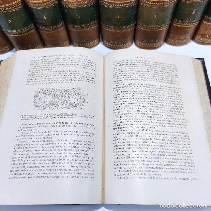 Libros antiguos: Tratado de medicina y terapéutica. P. Brouardel. D. José Núñez Granés. 10 tomos. Madrid. 1901. - Foto 11 - 290962338