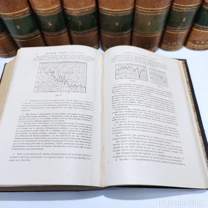 Libros antiguos: Tratado de medicina y terapéutica. P. Brouardel. D. José Núñez Granés. 10 tomos. Madrid. 1901. - Foto 12 - 290962338