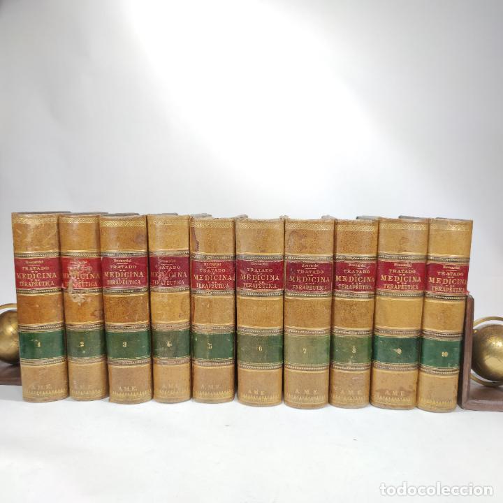 TRATADO DE MEDICINA Y TERAPÉUTICA. P. BROUARDEL. D. JOSÉ NÚÑEZ GRANÉS. 10 TOMOS. MADRID. 1901. (Libros Antiguos, Raros y Curiosos - Ciencias, Manuales y Oficios - Medicina, Farmacia y Salud)