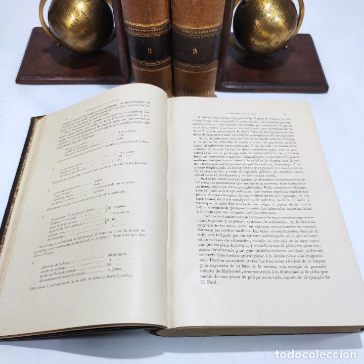 Libros antiguos: Manual de terapéutica médica. G.M. Debove y CH. Achard. D. Patricio Barco y Pons. 3 tomos. 1902. - Foto 5 - 290962818