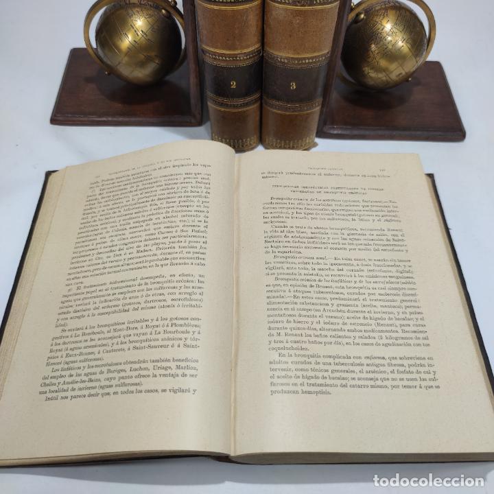 Libros antiguos: Manual de terapéutica médica. G.M. Debove y CH. Achard. D. Patricio Barco y Pons. 3 tomos. 1902. - Foto 6 - 290962818
