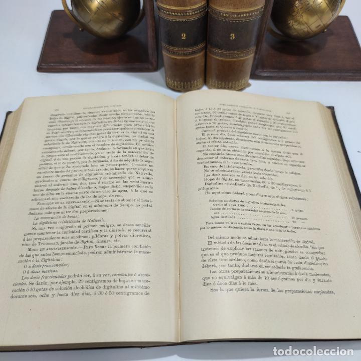 Libros antiguos: Manual de terapéutica médica. G.M. Debove y CH. Achard. D. Patricio Barco y Pons. 3 tomos. 1902. - Foto 7 - 290962818