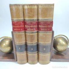 Libros antiguos: MANUAL DE TERAPÉUTICA MÉDICA. G.M. DEBOVE Y CH. ACHARD. D. PATRICIO BARCO Y PONS. 3 TOMOS. 1902.. Lote 290962818
