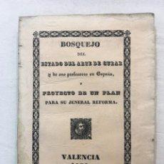 Libros antiguos: J. ANTONIO PIQUER. BOSQUEJO DEL ESTADO DEL ARTE DE CURAR Y DE SUS PROFESORES.., VALENCIA, 1836.. Lote 294090268