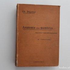 Libros antiguos: ANATOMIE DES MEMBRES 1905 PRIMERA EDICIÓN CH. DUJARIER. Lote 294449118