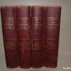 Libros antiguos: 4 TOMOS DE L.TESTUT TRAITE D´ANATOMIE HUMAINE 1911 - 6ªEDICION. Lote 295831393