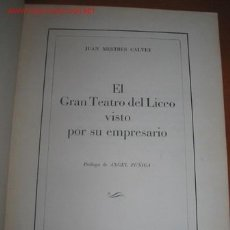 Libros antiguos: HISTORIA DEL LICEO DE BARCELONA.. Lote 25345817