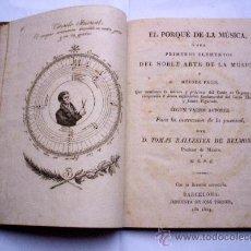 Libros antiguos: EL PORQUÉ DE LA MÚSICA - 1824. Lote 26399512