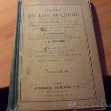 Libros antiguos: SOLFEO DE LOS SOLFEOS . VOL 2B ( ENRIQUE LEMOINE ) ( LB38). Lote 22588557