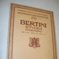 Libros antiguos: BERTINI ETUDES POUR PIANO-ÉDITION NATIONALE FRAÇAISE, PANTHÉON DES PIANISTES Nº. 1088-. Lote 24486857