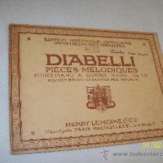 Libros antiguos: DIABELLI, PIÈCES, MÉLODIQUES POUR PIANO A QUATRE MAINS-OP. 149-ÉDITION REVUE ET DOIGTÉE PAR TH LACK. Lote 24486880