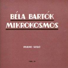 Libros antiguos: BÉLA BARTÓK MIKROKOSMOS PIANO SOLO VOL.II BOOSEY & HAWKES. Lote 27450331