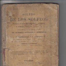 Libros antiguos: LIBRO SOLFEO DE LOS SOLFEOS, AUTOR ENRIQUE LEMOINE AÑO 1910. Lote 28697668