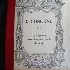 Libros antiguos: 50 LECCIONES PARA EL REGISTRO MEDIO DE LA VOZ.EDITORIAL BOILEAU .BARCELONA. ANTIGUO.OP.9 J.CONCONE. Lote 29912489