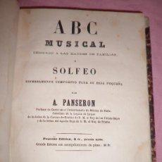 Libros antiguos: ABC MUSICAL - SOLFEO - A.PANSERON - AÑO 1861 - MUY ILUSTRADO.. Lote 32398695