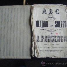 Libros antiguos: ABC MUSICAL METODO DE SOLFEO A.PANSERON. 3ª EDICIÓN 1867. CON PARTITURAS VARIAS MANUSCRITAS.. Lote 32485146