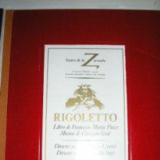 Libros antiguos: TEATRO DE LA ZARZUELA ----RIGOLETTO-MACBETH-ARMIDE- 3 TOMOS.. Lote 35725639