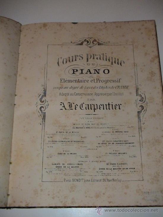 Libros antiguos: CURSO PRÁCTICO DE PIANO, A. LE CARPENTIER, PARIS 1854 BILINGUE FRANCES ESPAÑOL - Foto 3 - 35804696