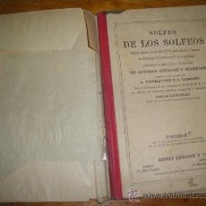Libros antiguos: SOLFEO DE LOS SOLFEOS, HENRY LEMOINE, PARIS BRUSELAS. VOLUMEN 1.. Lote 36180666