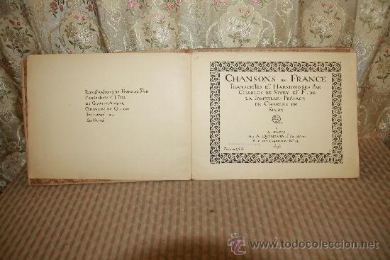 Libros antiguos: 2758- CHANSONS DE FRANCE. CHARLES DE SIVRI. EDIT. QUINZARD. 1898. - Foto 3 - 36286876