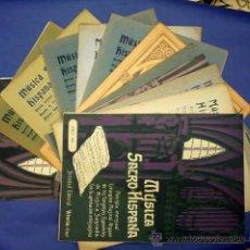 Livres anciens: LOTE DE 12 REVISTAS DE MUSICA SACRO-HISPANA AÑOS 1914-1917. Lote 37669270