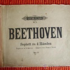 Libros antiguos: 1890-BEETHOVEN.EDITION PETERS.MÚSICA.PIANO. Lote 38125403