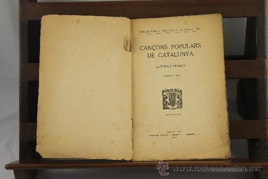 3558- CANÇONS POPULARS DE CATALUNYA. VV.AA. EDIT. SALVADOR BONAVIA. 1923. (Libros Antiguos, Raros y Curiosos - Bellas artes, ocio y coleccion - Música)