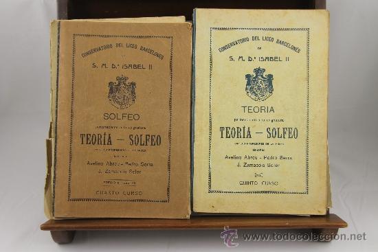 3639- LOTE DE 6 LIBROS DE SOLFEO Y MUSICA. CONSERVATORIO DEL LICEO BARCELONES. 1922. VER DESCRIPCION (Libros Antiguos, Raros y Curiosos - Bellas artes, ocio y coleccion - Música)