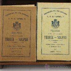 Libros antiguos: 3639- LOTE DE 6 LIBROS DE SOLFEO Y MUSICA. CONSERVATORIO DEL LICEO BARCELONES. 1922. VER DESCRIPCION. Lote 38468926