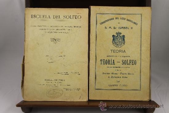 Libros antiguos: 3639- LOTE DE 6 LIBROS DE SOLFEO Y MUSICA. CONSERVATORIO DEL LICEO BARCELONES. 1922. VER DESCRIPCION - Foto 2 - 38468926