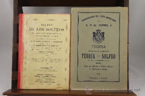 Libros antiguos: 3639- LOTE DE 6 LIBROS DE SOLFEO Y MUSICA. CONSERVATORIO DEL LICEO BARCELONES. 1922. VER DESCRIPCION - Foto 3 - 38468926