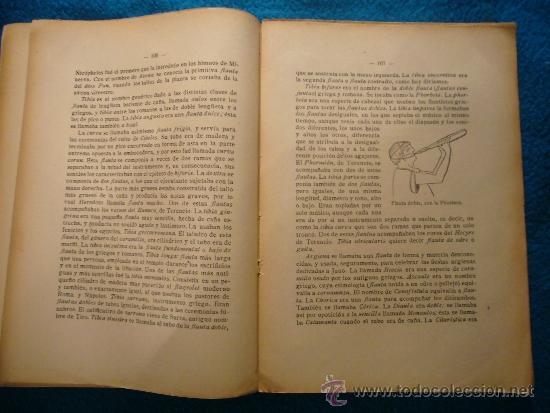 Libros antiguos: EUSEBIO BOSCH HUMET: - ORGANOGRAFIA DE TODOS LOS INSTRUMENTOS MUSICALES - (MADRID, 1916) - Foto 3 - 39023157