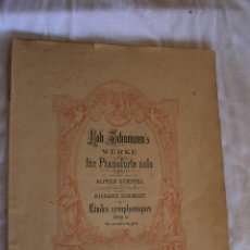 Libros antiguos: ROB SCHUMANN'S. WERKE FUR PIANOFORTE. Lote 39319922