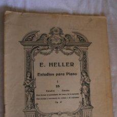 Libros antiguos: E. HELLER ESTUDIOS PARA PIANO. Lote 39319924