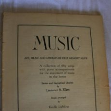 Libros antiguos: MUSIC FIFTY SONGS WITH PIANO ACCOMPANIMENT. Lote 39319939