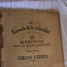 Libros antiguos: CARLOS CZERNY. . Lote 39319941