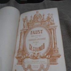 Libros antiguos: FAUST CH. GOUNOD OPERA EN 5 ACTES J. BARBIER & M. CARRE ED. CHOUDENS (1850) PARTITURA PIANO SOLO. Lote 39559155
