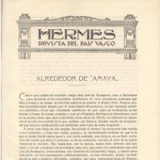 Libros antiguos: REVISTA HERMES. GURIDI Y EL DRAMA LÍRICO AMAYA. C. 1920. PAIS VASCO. MÚSICA. Lote 40752237