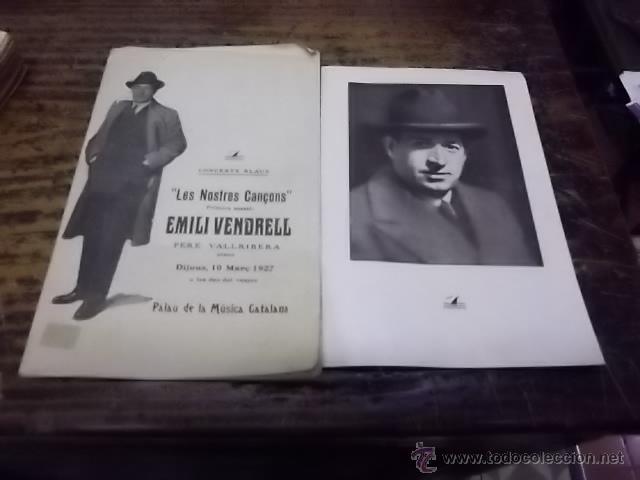 1883.- EMILI VENDRELL LES NOSTRES CANÇONS-CONCERTS BLAUS (Libros Antiguos, Raros y Curiosos - Bellas artes, ocio y coleccion - Música)