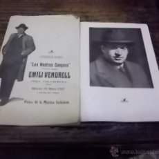 Libros antiguos: 1883.- EMILI VENDRELL LES NOSTRES CANÇONS-CONCERTS BLAUS. Lote 41384353