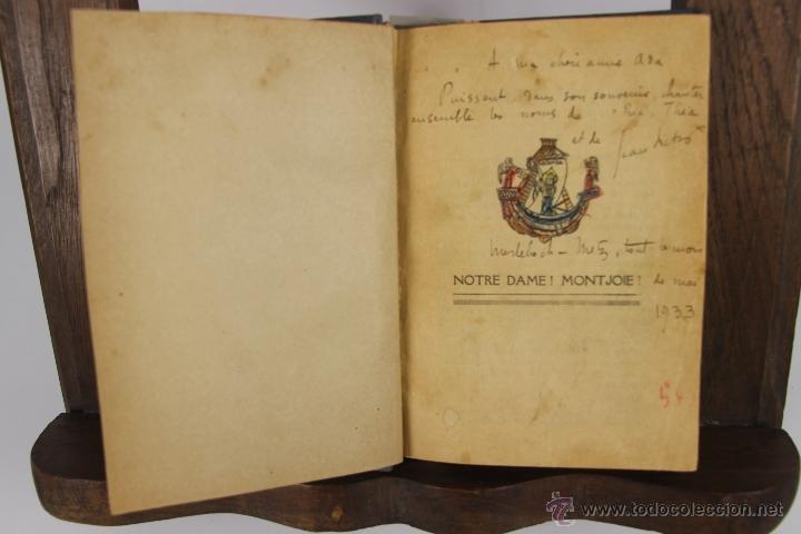 4509- CHANSONS. NOTRE DAME MONT JOIE. S/A. 1933. (Libros Antiguos, Raros y Curiosos - Bellas artes, ocio y coleccion - Música)