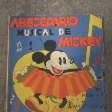 Libros antiguos: ABECEDARIO MUSICAL DE MICKEY , SINFONÍAS INOCENTES , POR WALT DISNEY , 1936 .. Lote 41576463