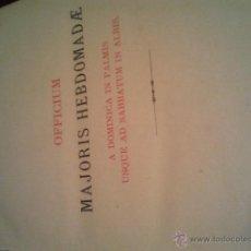 Libros antiguos: OFFICIUM MAJORIS HEBDOMADE A DOMINICA IN PALMIS. Lote 42483504