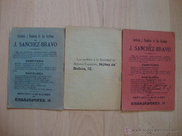Libros antiguos: lote de tres librillos de *Argumento y cantables*1909/10 - Foto 2 - 44788207
