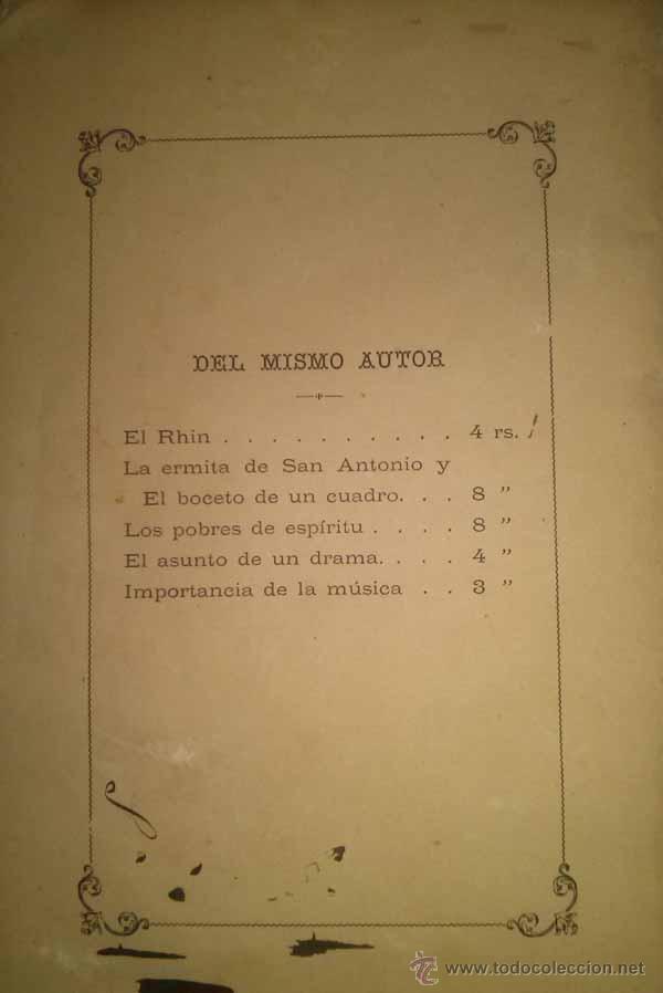 Libros antiguos: IMPORTANCIA DEL DIVINO ARTE DE LA MUSICA ALICANTE 1882 - Foto 3 - 45786329